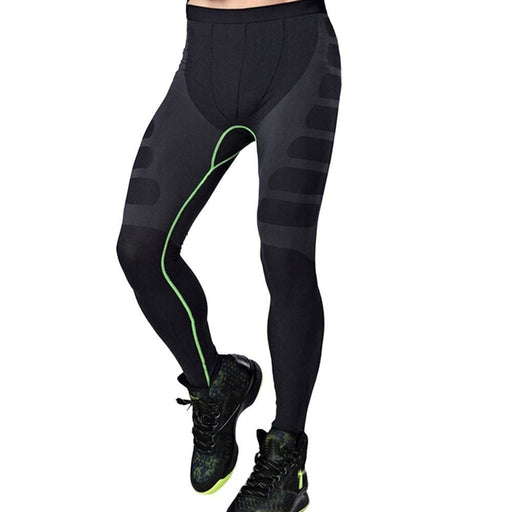 Man Sports Yoga Pants Elastic Tights Fitness Running Trousers - Green / M - Mens Fitness Wear