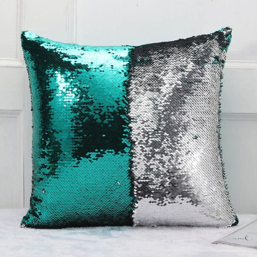 Meijuner Diy Mermaid Sequin Cushion Cover Magical Throw Pillowcase 40X40Cm Color Changing Reversible Pillow Case For Home Decor - Home Decor