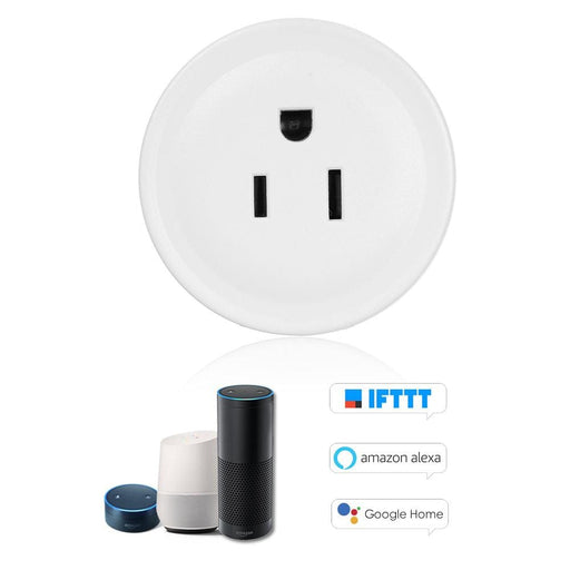 Plugs Mini Smart WiFi Socket Remote Control by Smart Phone from Anywhere Timing Function, Voice Control for Amazon Alexa and for Google Home IFTTT