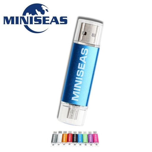 USB Stick Miniseas Usb Flash Drive Fashion 9 Colors OTG Phone Pen Drive 8GB 4GB Pendrive 64GB 32GB 16GB Memory Usb Stick Flash Drive