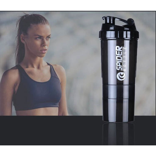 Shaker Cups Motivational Protein Shaker Bottle Shaker Cup with Protein Powder Storage Compartments, 100% Leak Proof BPA Free