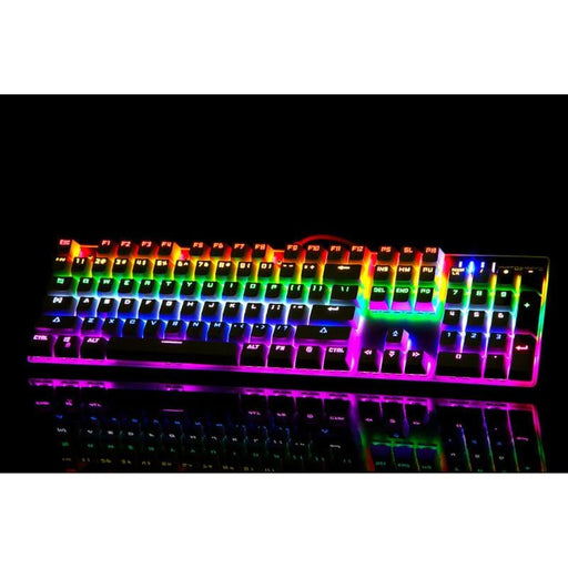 keyboards Motospeed CK104 Gaming Mechanical Keyboard Russian English Red Switch Blue Metal Wired LED Backlit RGB Anti-Ghosting for gamer