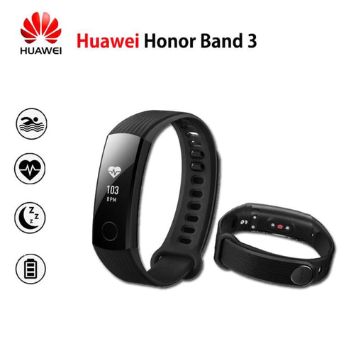 New Original Huawei Honor Band 3 Smart Wristband Swimmable 5Atm Oled Screen Touchpad Continual Heart Rate Monitor Push Message - Sleep