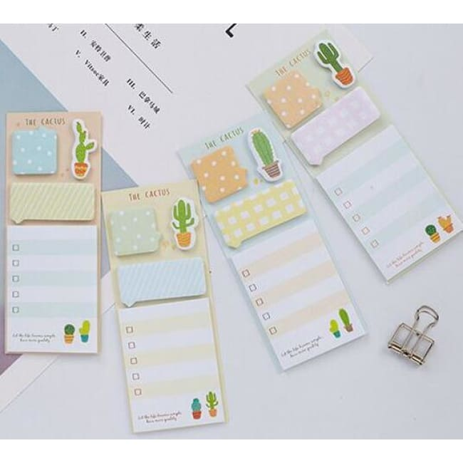Sticky Notes NOVERTY Cactus Cute stickers kawaii self-adhesive sticky notes stationery planner memo pad cute papeleria notepad stick 01945
