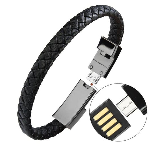 Bracelets Outdoor Portable Leather Mini Micro USB Bracelet Charger Data Charging Cable Sync Cord For iPhone6 6s Android Type-C Phone Cable