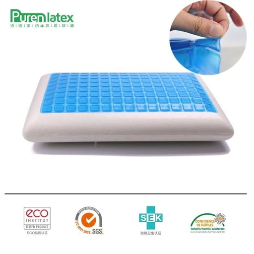 Purenlatex 60*40*12 Silicone Gel Memory Foam Summer Cool Pillow Spondylosis And Eczema Prevented For Cervical Vertebra Healing - Cooling