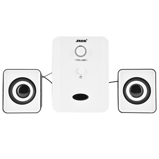 Computer Speakers SADA D-201 USB Wired Combination Speakers Computer Speakers Bass Stereo Music Player Subwoofer Sound Box for Desktop Laptop Notebook Tablet PC Smart Phone