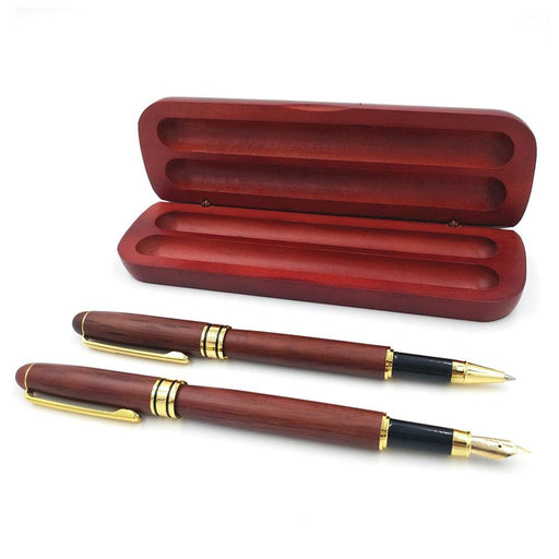 Fountain Pens Signing Pen Set Joint Roseood Fountain Pen with Box Office School Stationary Supplies