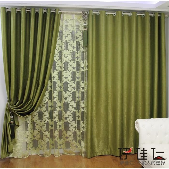 Bedroom Curtains Solid blackout curtains green drops for living room bedroom windows thread drapery fabric thick drapery heavy