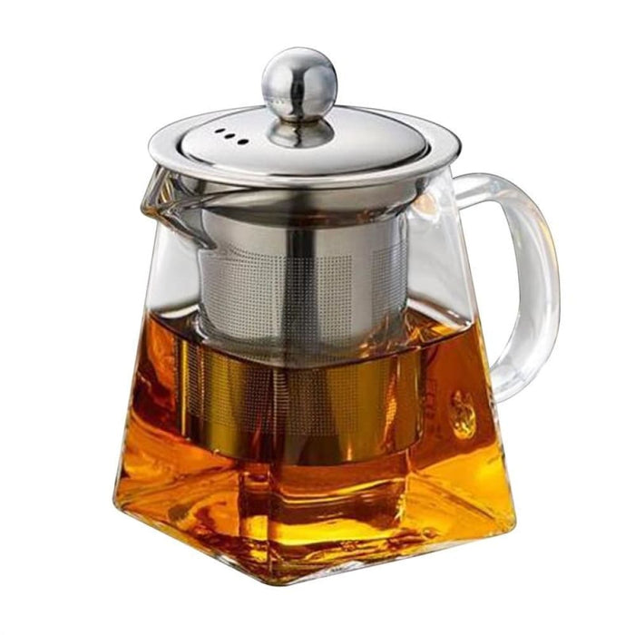 Stainless Steel Infuser Strainer Heat Resistant Glass Tea Pot Tea Cup For Loose Leaf Tea - Teapots