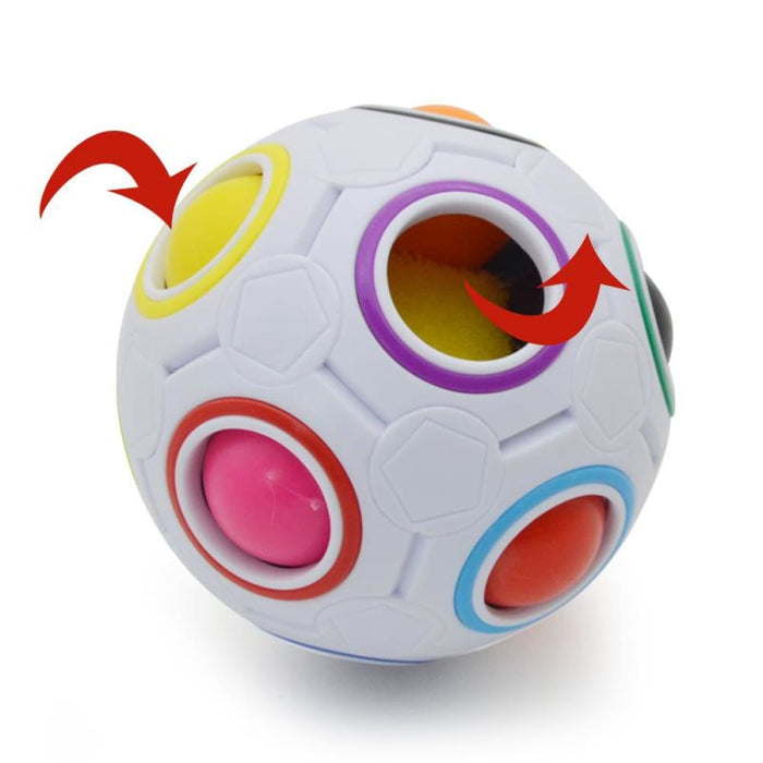 Strange-Shape Magic Cube Fidget Toy Desk Toy Anti Stress Rainbow Ball Football Puzzles Kids Children Gift Stress Reliever - Stress Relief