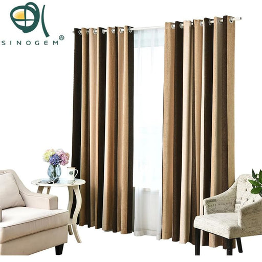 Striped Printed Thickening Chenille Window Curtains For The Bedroom Living Room Heavy Children Modern Curtains For Kids Room - Bedroom