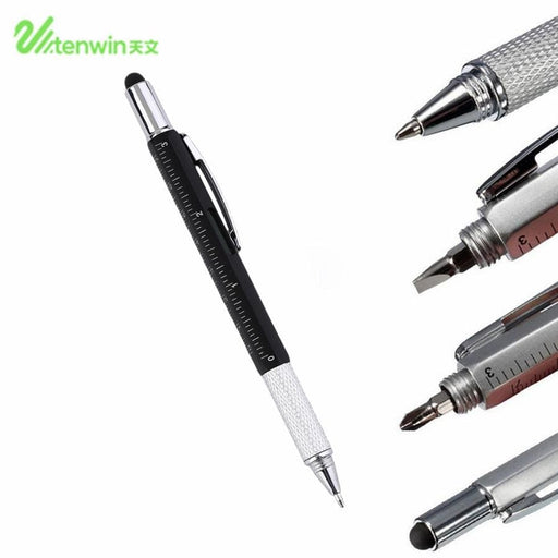 Ballpoint Pens TENWIN 6 In 1 Multifunctional Touch Screen Tool Stylus Pen Ballpoint Pen Portable Size Ballpoint Pen With Ruler Screwdriver Tool