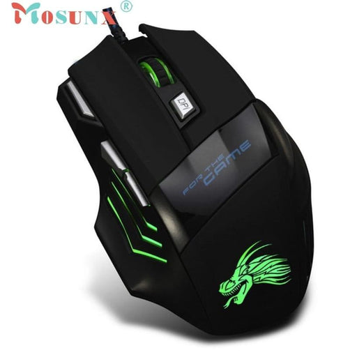 Mice Top Quality Hot Selling Fashion Design 5500 DPI 7 Button LED Optical USB Wired Gaming Mouse Mice For Pro Gamer JUL 11 18Apr12