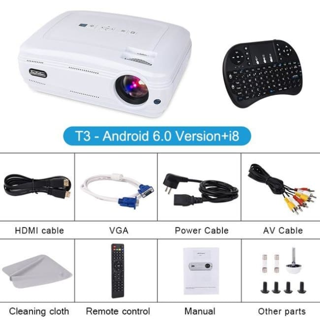 Projectors Touyinger T3 Video Projector 3500 Lumens videoprojecteur ( Android Bluetooth ) Beamer LED TV Home Theater support 1080P Full HD