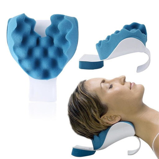 Travel Neck Pillow Theraputic Support Tension Reliever Neck Shoulder Relaxer Massager Pillow Soft Sponge Releases Muscle Pillow - Foam