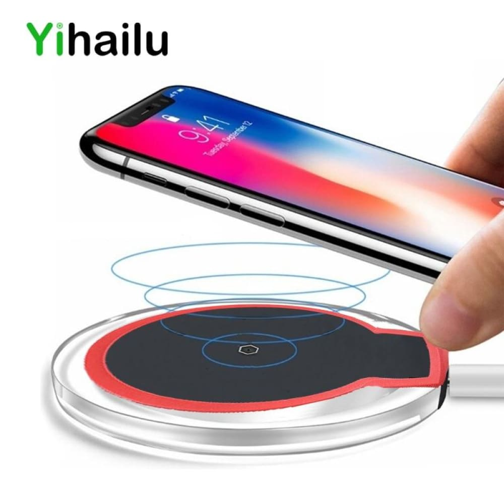 Wireless Charge Ultra-Thin Phone Fast Charge Qi Wireless Charger Charging Pad For Iphone Samsung Nokia Lg Sony Transmitter - Wireless