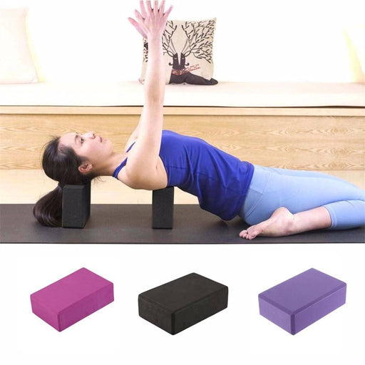Women Yoga Blocks Home Gym Exercise Eva Foam Yoga Block Roller Sports Stretching Aid Lady Body Shaping Training Fitness Tools - Yoga Rollers