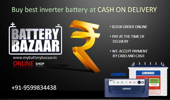Buy best inverter battery at cash on delivery