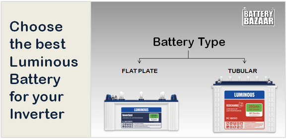 Choose the Best Luminous Battery for your Inverter