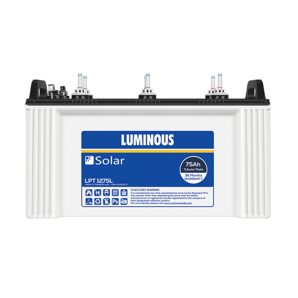 Luminous Solar 75 Ah Tubular battery