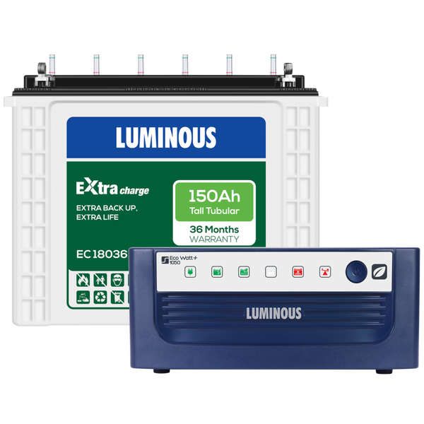Luminous Eco Watt 1050 + Extra Charge - EC 18036