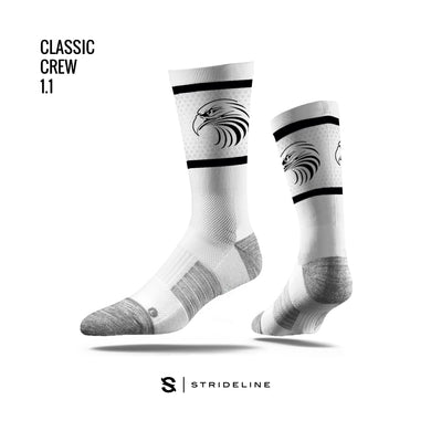 BOYS HS – Strideline Classic Crew Sock (White)