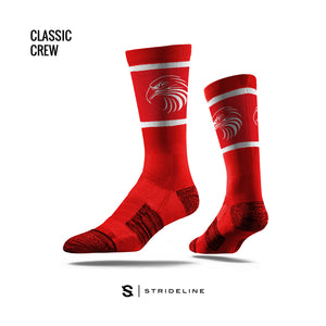 YOUTH – Strideline Classic Crew Sock (Red)