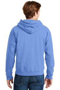SKYLINE HS BASEBALL – Detailed Grizzly Head DryBlend Pullover Hooded Sweatshirt (Columbia Blue)
