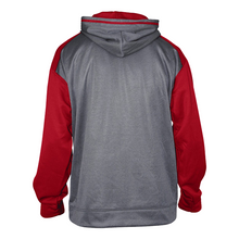 Load image into Gallery viewer, MADISON HS BASEBALL – Sport Heather Unisex Hood (Carbon Heather/ Deep Red)