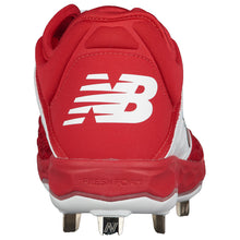 Load image into Gallery viewer, MADISON HS BASEBALL – New Balance Men's Metal Baseball Low Metal Cleats (Red)
