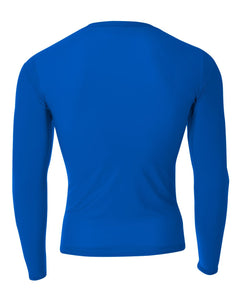 SUGAR-SUGAR HS BASEBALL – A4 Long Sleeve Compression Crew (Royal)