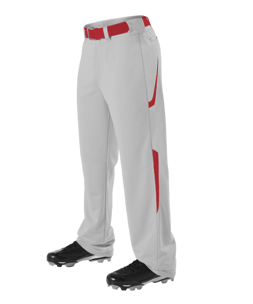 MadCats Baseball – Youth Two Color Baseball Pant (Grey/Scarlet Red)
