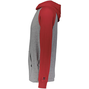 MadCats Baseball – Russell Lightweight Moisture-Wicking Essential Hoodie (Oxford Grey/Red)