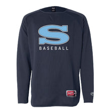 Load image into Gallery viewer, GRIZZLY BASESBALL – LS Flatback Mesh Fleece Pullover (Navy)