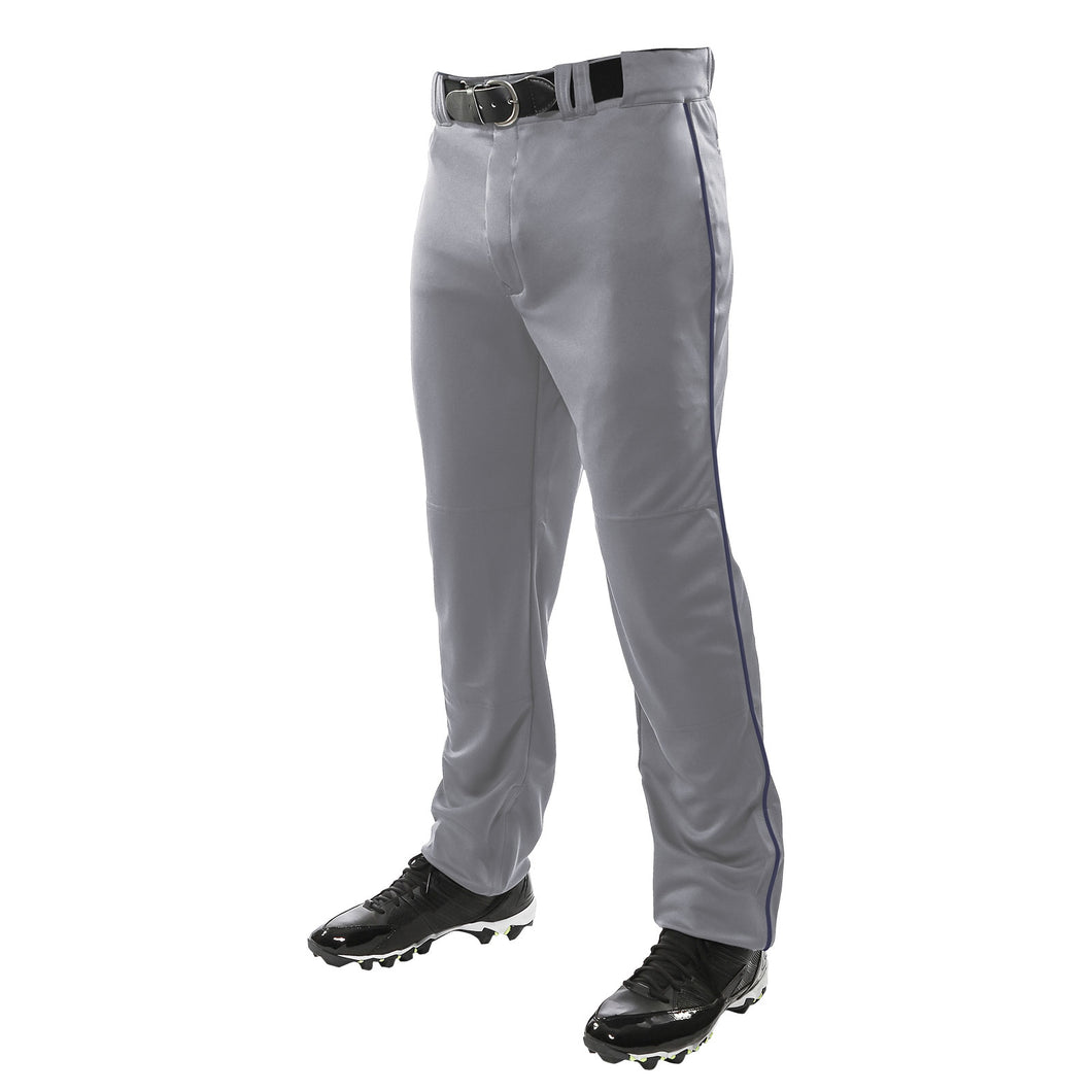 SKYLINE HS BASEBALL –  Triple Crown Open Bottom Grey Pant w/ Navy Piping