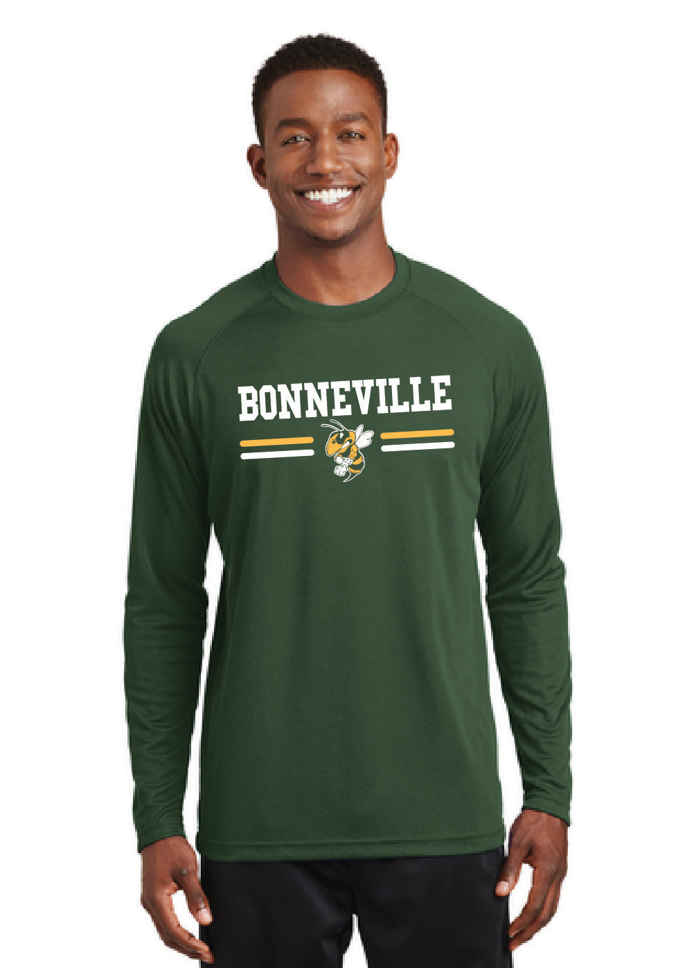 BONNEVILLE HS – 2CF Bars Georgia Bee T473LS MM Forest Green