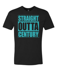 CENTURY HS – Next Level Fitted Crew Tee – Straight Outta Century (Athletic Teal/Black)