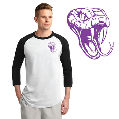 CENTURY HS – Purple D-Back Head LC Colorblock Raglan Jersey (Black/White)