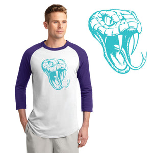 CENTURY HS – Teal D-Back Head Colorblock Raglan Jersey (Purple/White)