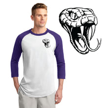 Load image into Gallery viewer, CENTURY HS – Black D-Back Head LC Colorblock Raglan Jersey (Purple/White)