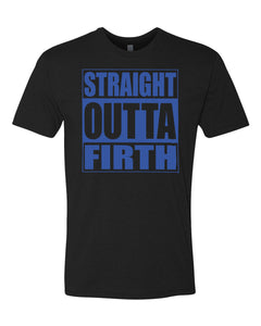 FIRTH HS – Next Level Fitted Crew Tee – Straight Outta Firth (Royal/Black)