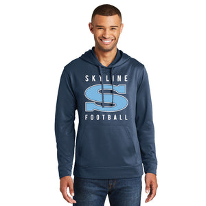 GRIZZ GRID KID – Performance Fleece Pullover Hooded Sweatshirt (Deep Navy)