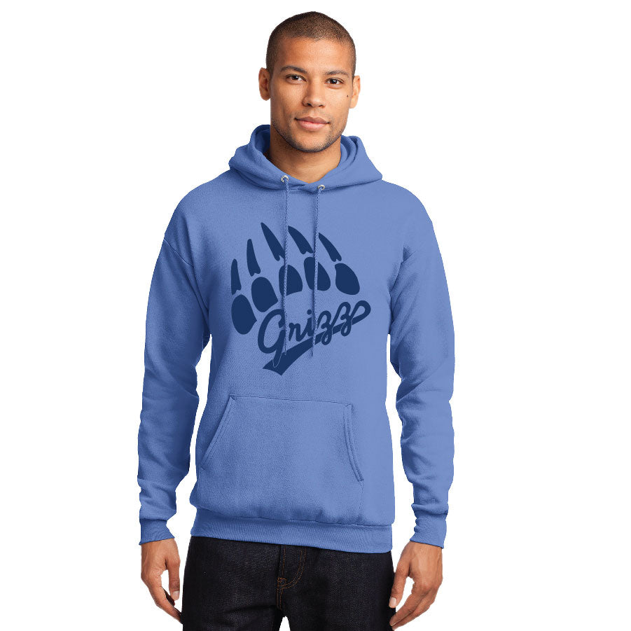 GRIZZ GRID KID – Core Fleece Pullover Hooded Sweatshirt (Carolina Blue)