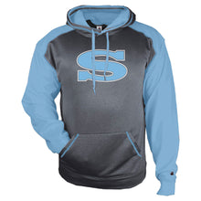 Load image into Gallery viewer, SKYLINE HS BASEBALL – Sport Heather Unisex Hoodie (Carbon Heather/Columbia)