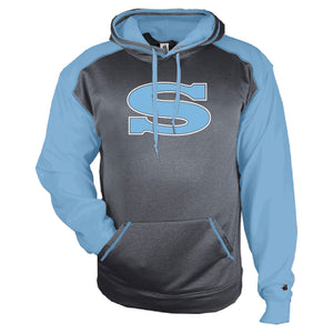 SKYLINE HS BASEBALL – Sport Heather Unisex Hoodie (Carbon Heather/Columbia)