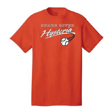 Snake River HYSTERIA SOFTBALL - Core Cotton Short Sleeve Tee (Orange)