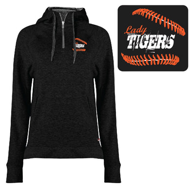 1051- BADGER LADIES 1/4 ZIP (Black)