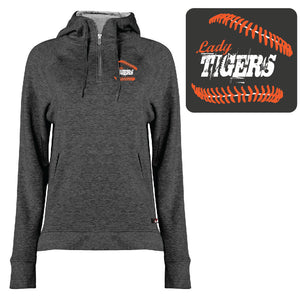 1051- BADGER  LADIES 1/4 ZIP (Charcoal)