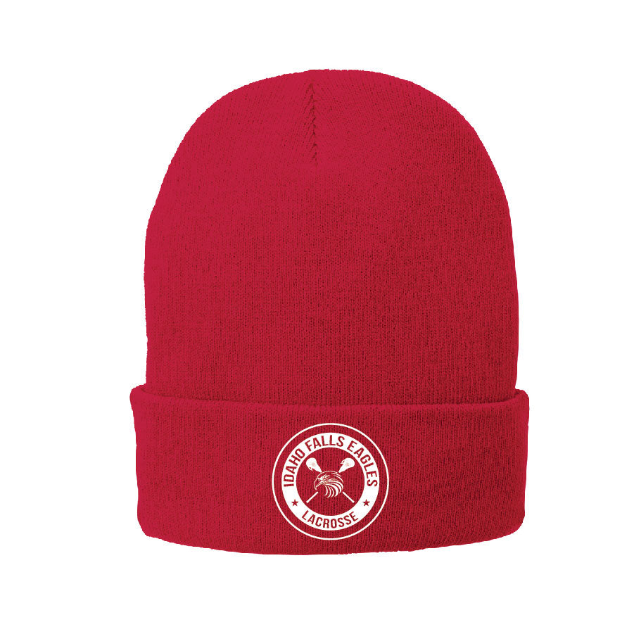 IF LAX – Fleece-Lined Knit Cap (Red)